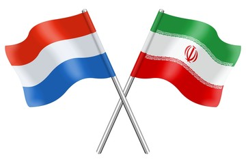 Flags: Luxembourg and Iran