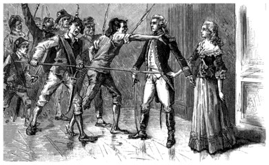 French Revolution : Agressing Aristocrats - end 18th century