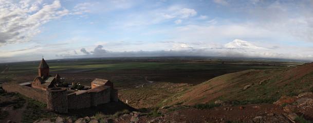 Khor Virap monastery near Ararat mountains, Armenia