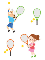 テニス 男性 女性