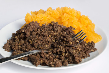 Haggis and neeps detail