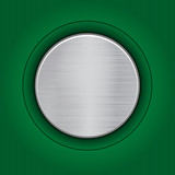 Abstract green background with a metal plate