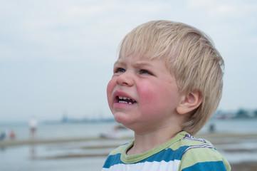 Portrait of boy in striped t-hirt