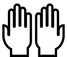 Hands outline vector icon