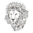Lion head  tattoo vector
