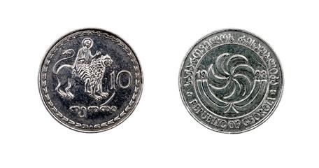 Coin 10 tetri GEL. Republic of Georgia
