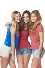 Three girls friends