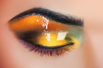 Woman's eye with make up