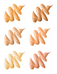 Make-up Foundation Swatches