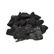 pile charcoal isolated on white background, xylanthrax - 62612219