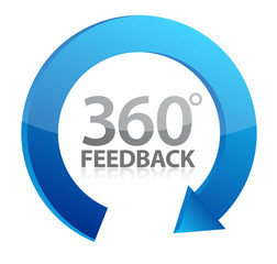 360 cycle feedback symbol illustration design