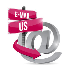 email us at internet symbol illustration design