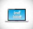 brand building laptop message illustration design
