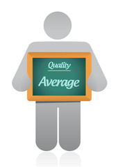 average quality sign illustration design