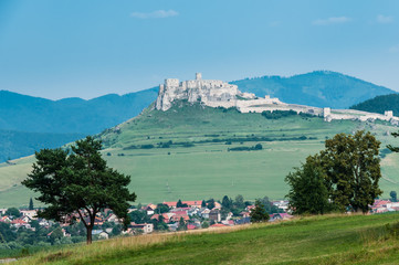 Scenic view of famous Spis Castle, Slovakia.