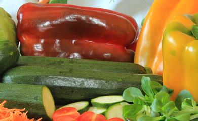 Peperoni e zucchine
