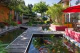 Private Garden on Summer Morning - 62614409