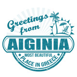 Greetings from Aiginia stamp