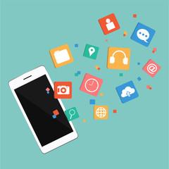 Vector Smartphone with Digital Marketing