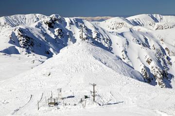 Snowy nature on hill Chopok - Low Tatras mountains, Slovakia