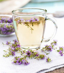 Fresh thyme tea