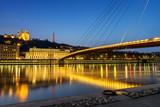 Fototapety Lyon blue hour