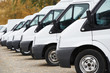 commercial vans in row - 62618469