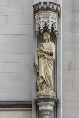 Statue on the building
