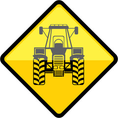 Yellow Tractor Sign