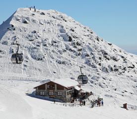 Chalet on hill Chopok - Low Tatras mountains, Slovakia