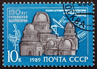 Postage stamp Russia 1989 Pulkovskaya Observatory