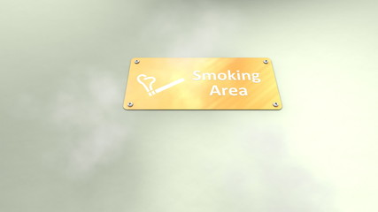 Public smoking area.