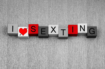 I Love Sexting - sign for explicit text messages and sexy photos