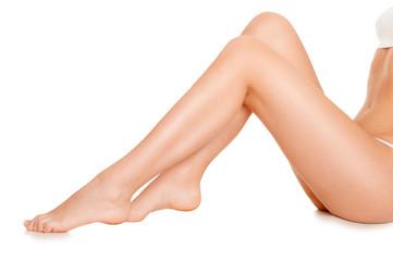 Beautiful slender female legs