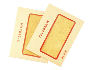 Two old telegram envelopes