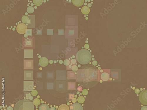 Abstract background - squares & circles