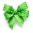 Green bow with dots