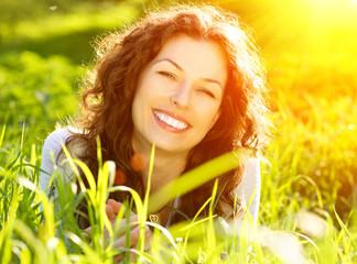 Beautiful Young Woman Outdoors. Enjoy Nature