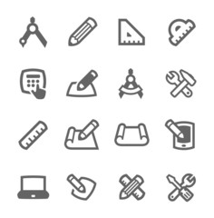 Blueprint and design icons