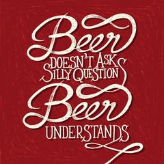 BEER UNDERSTANDS - phrase - red