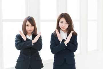 拒否する二人の女性 ビジネス