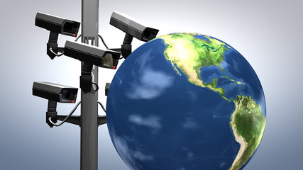Internet surveillance, concept animation.