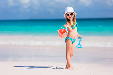Adorable little girl at beach