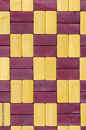 wood pad background.