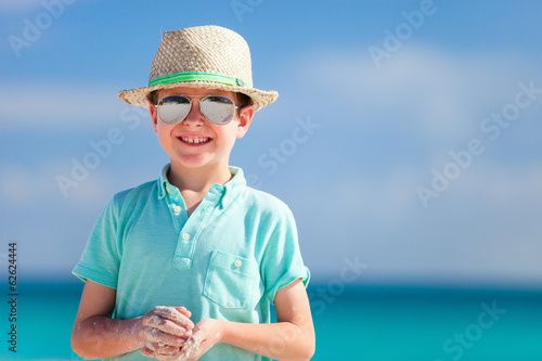 Little boy on vacation