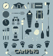 Vector Set: Camping and Outdoors Icons and Symbols - 62624682