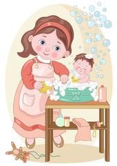 la mamma-il bagnetto