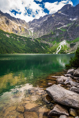 Beautiful lake in Tatra Mountains