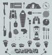 Vector Set: Camping and Outdoors Icons and Symbols - 62625473