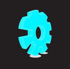 Gear logo 3d - eps 10.